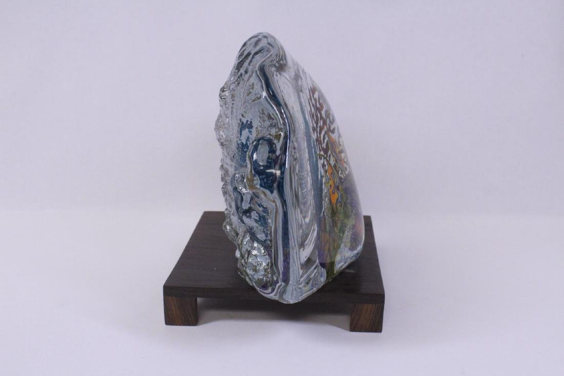 Murano glass boulder decorated with fish inside - 6