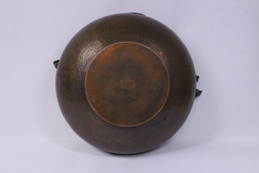 Arts and crafts copper bowl by Fred Brosi - 8