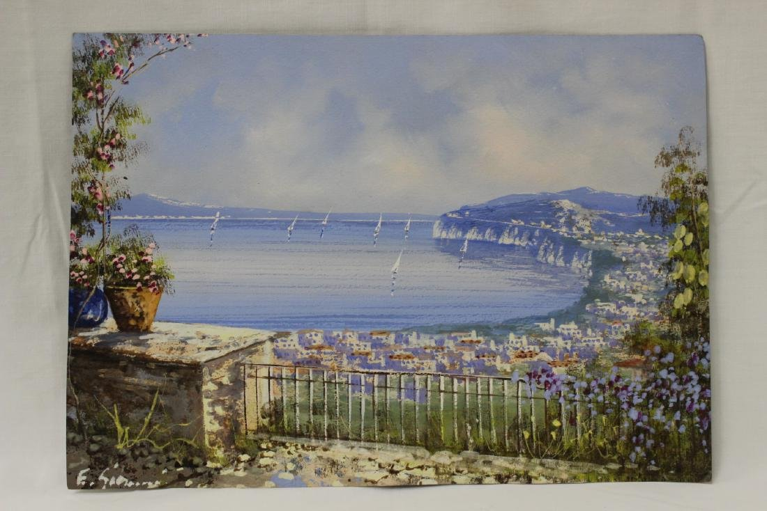 3 Italian watercolor by Ettore Gianni - 2