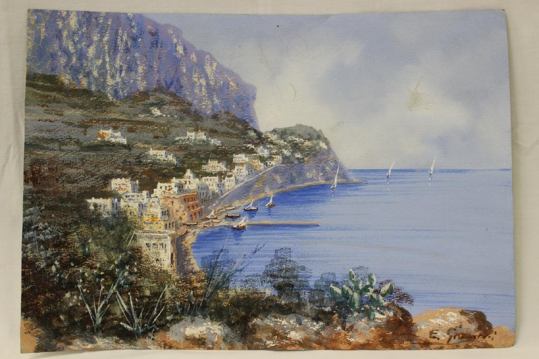 3 Italian watercolor by Ettore Gianni - 5