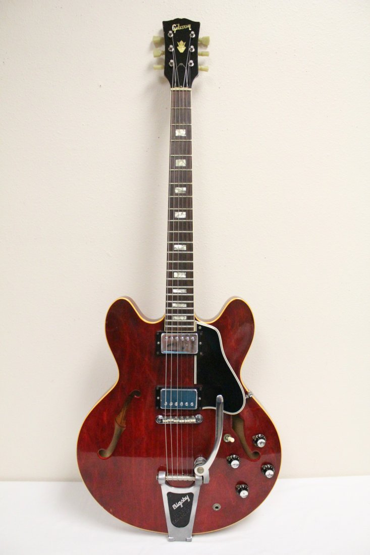 vintage Gibson Bigsby ES-335 electric guitar
