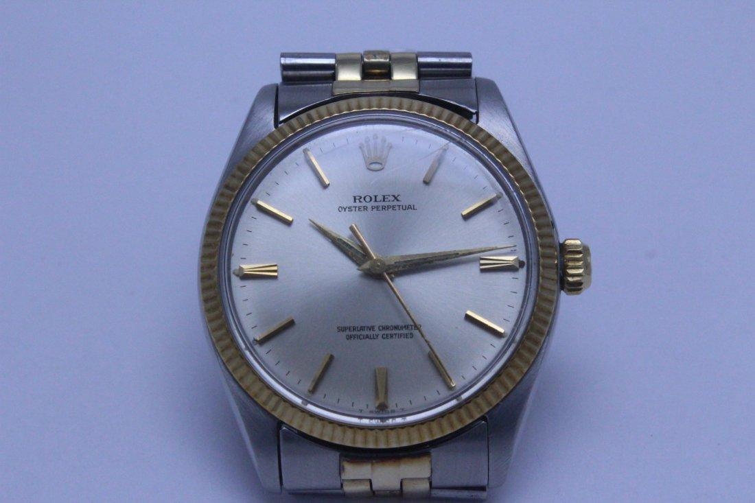 Rolex 18K gold & stainless steel wrist watch in box