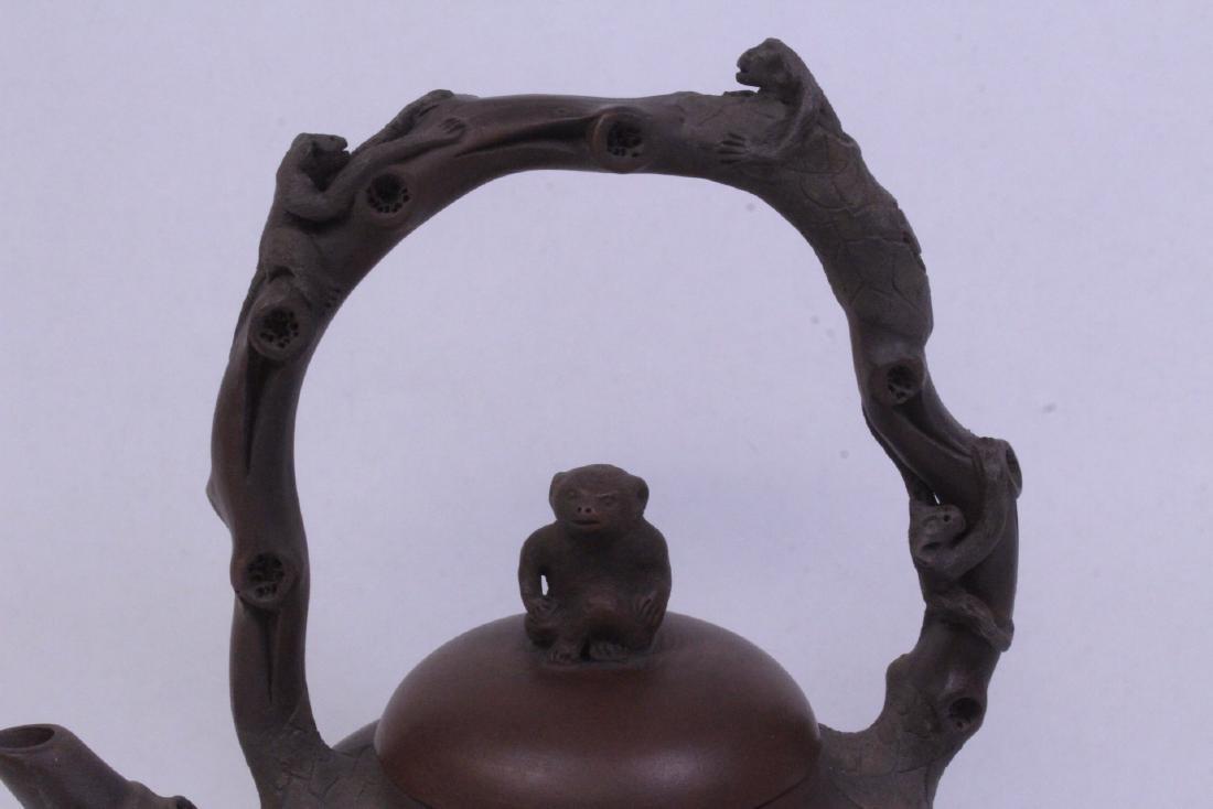 A fine Chinese Yixing teapot - 4