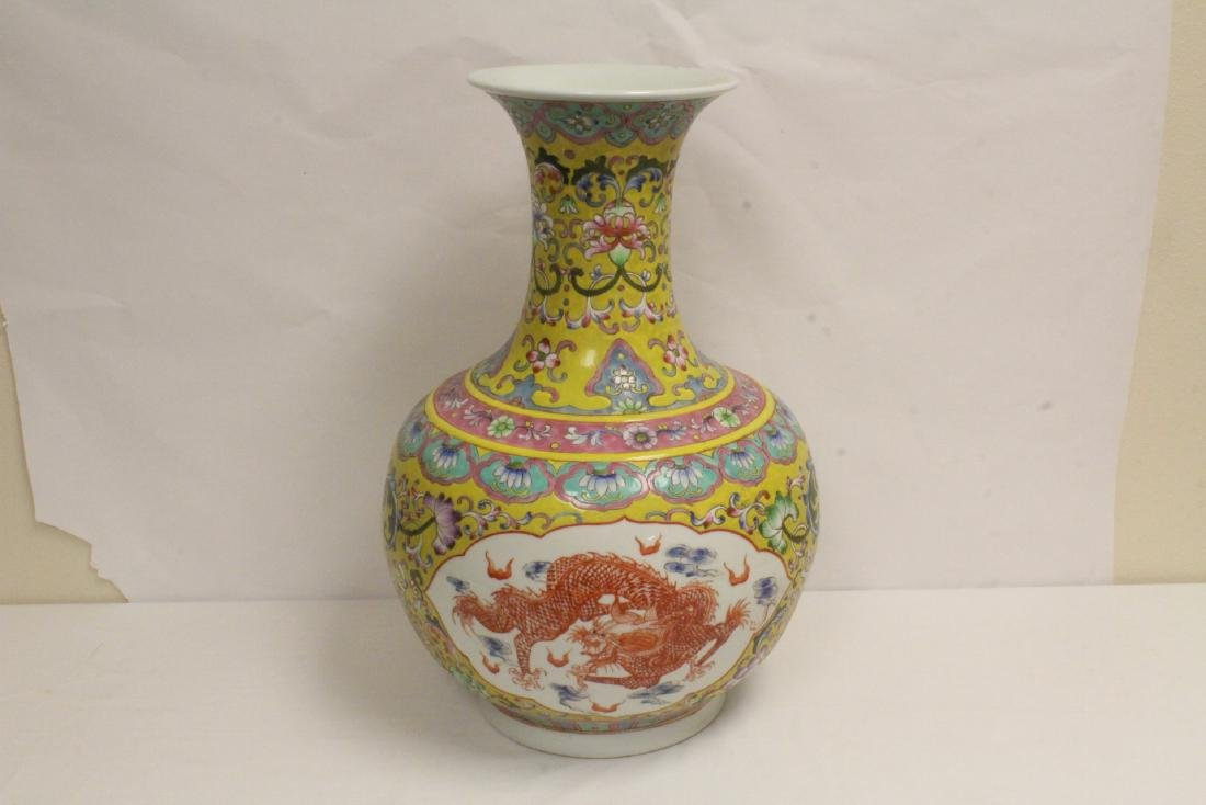 A massive Chinese famille rose porcelain jar