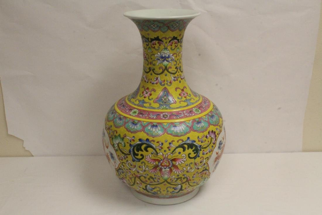 A massive Chinese famille rose porcelain jar - 5