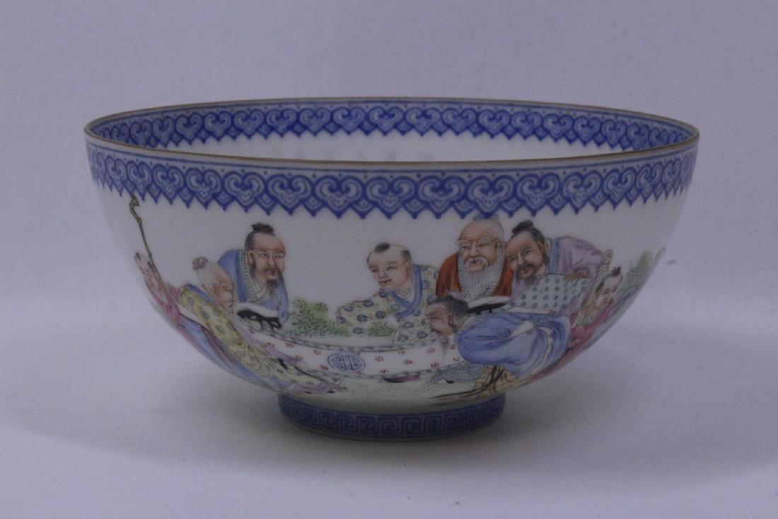 Chinese famille rose egg shell porcelain bowl
