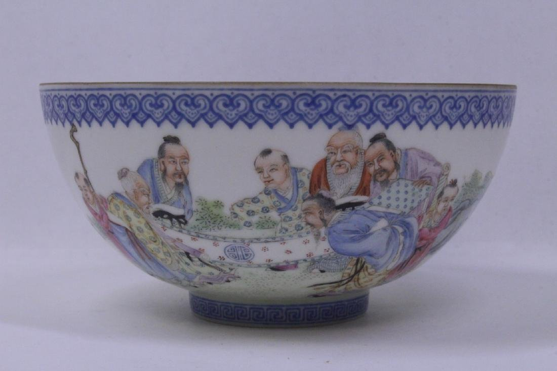 Chinese famille rose egg shell porcelain bowl - 2