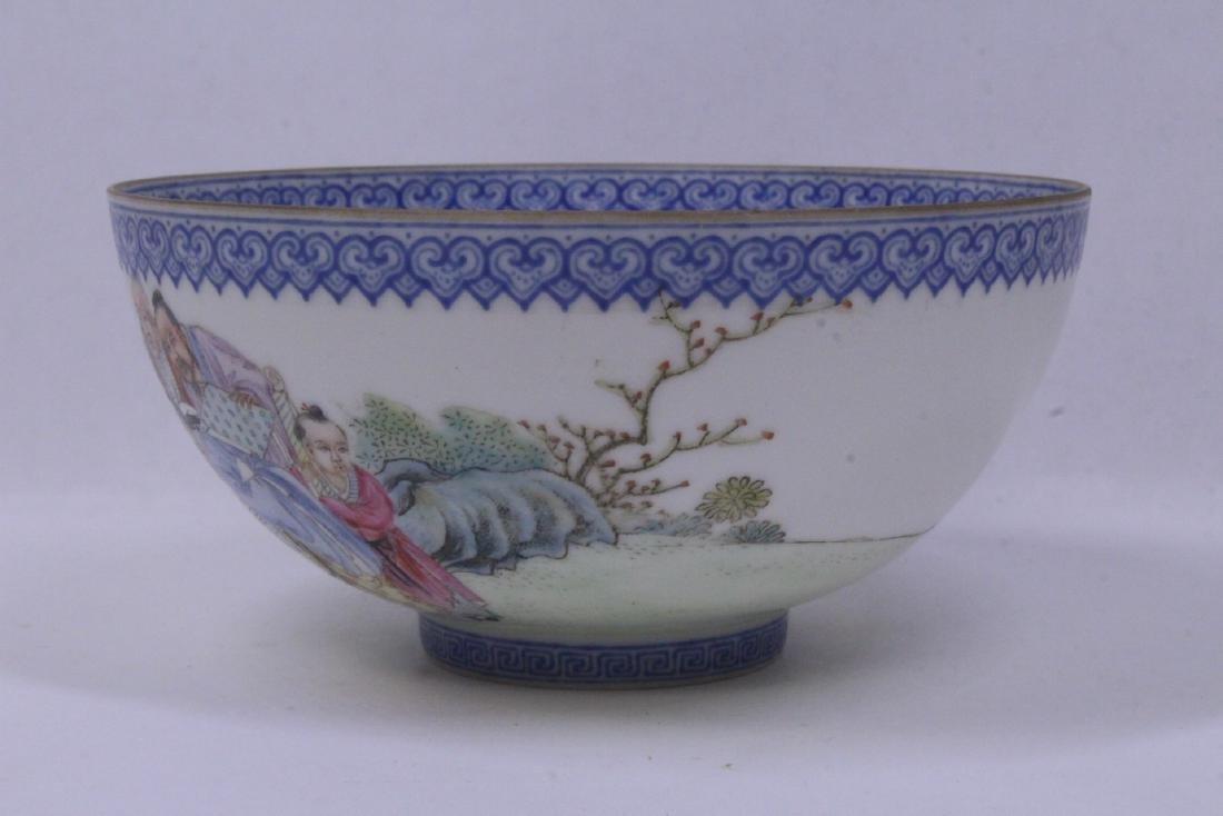 Chinese famille rose egg shell porcelain bowl - 3