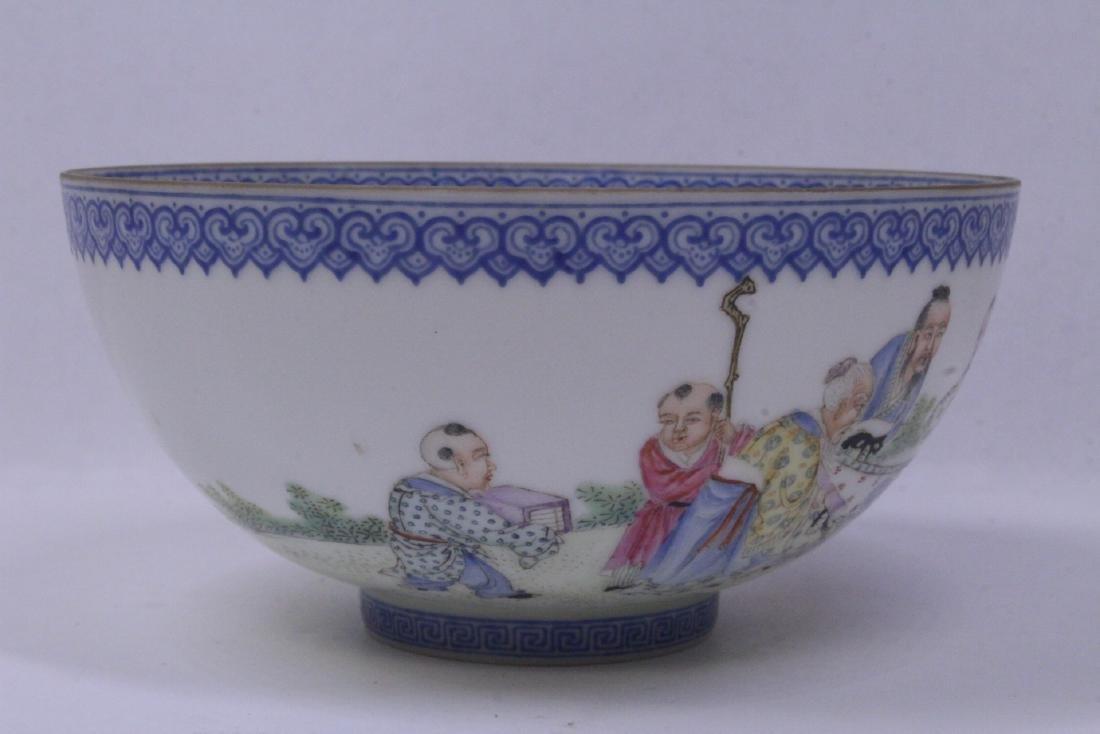 Chinese famille rose egg shell porcelain bowl - 5