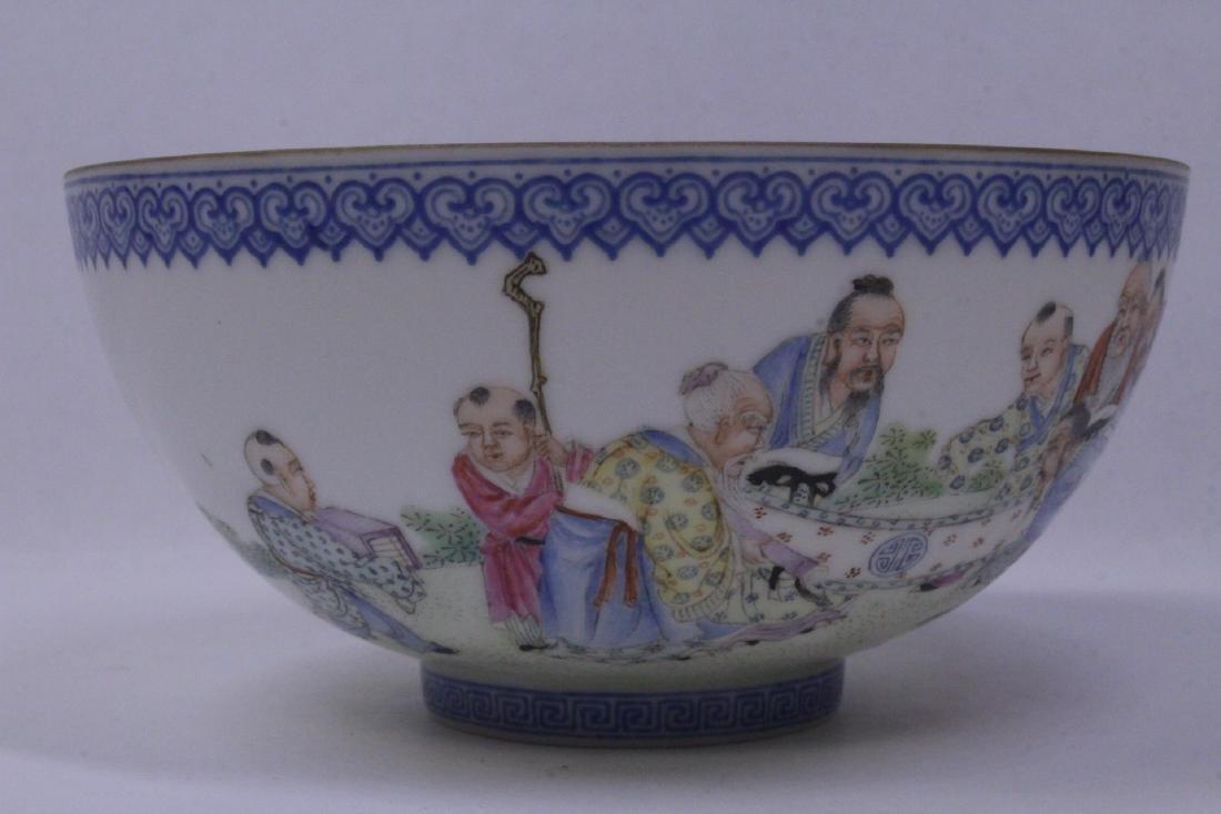 Chinese famille rose egg shell porcelain bowl - 6