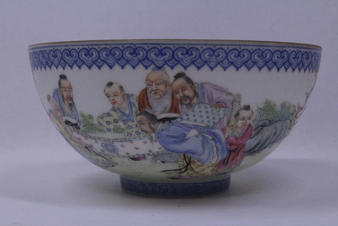 Chinese famille rose egg shell porcelain bowl - 7