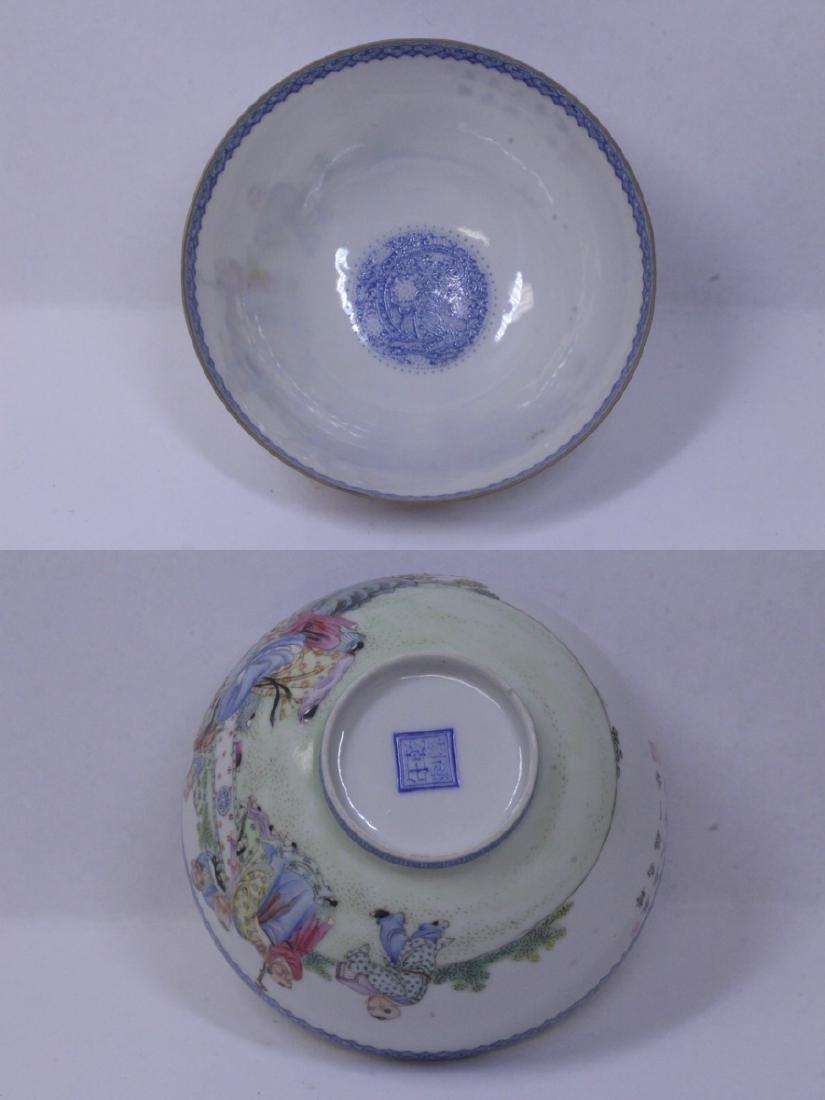 Chinese famille rose egg shell porcelain bowl - 8