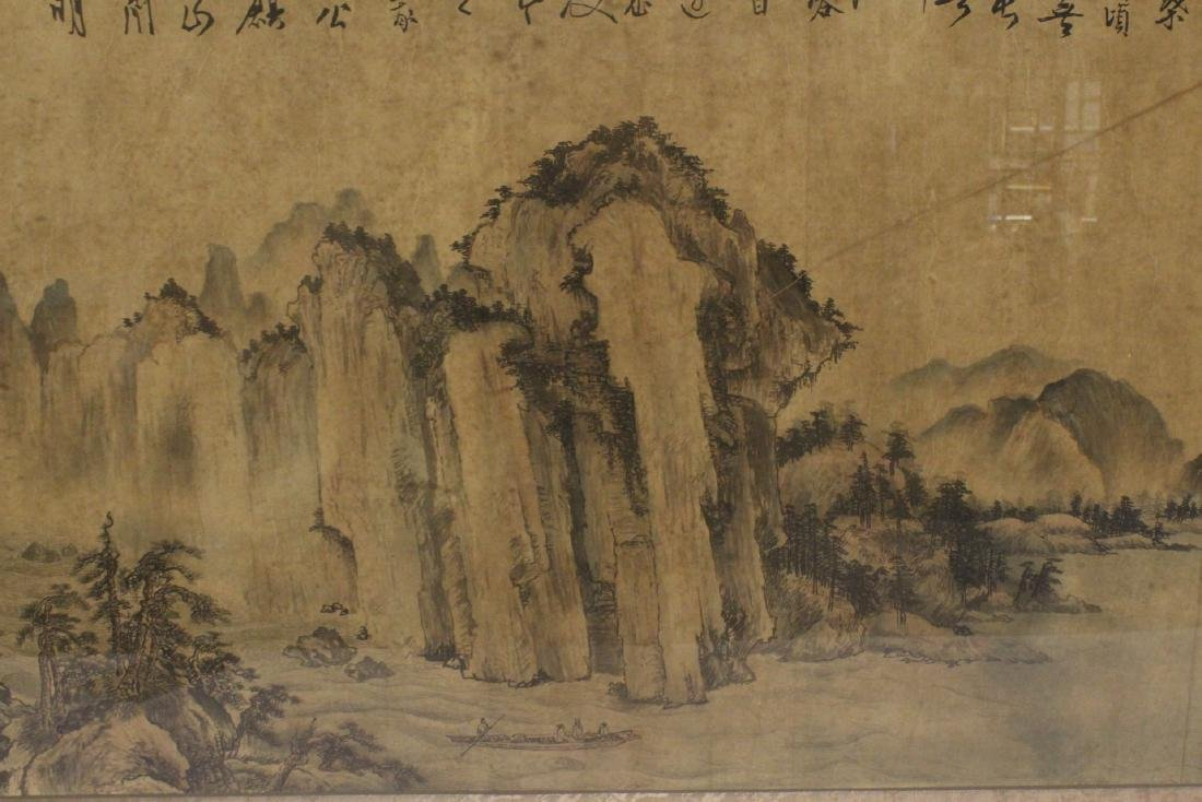A framed Chinese watercolor - 8