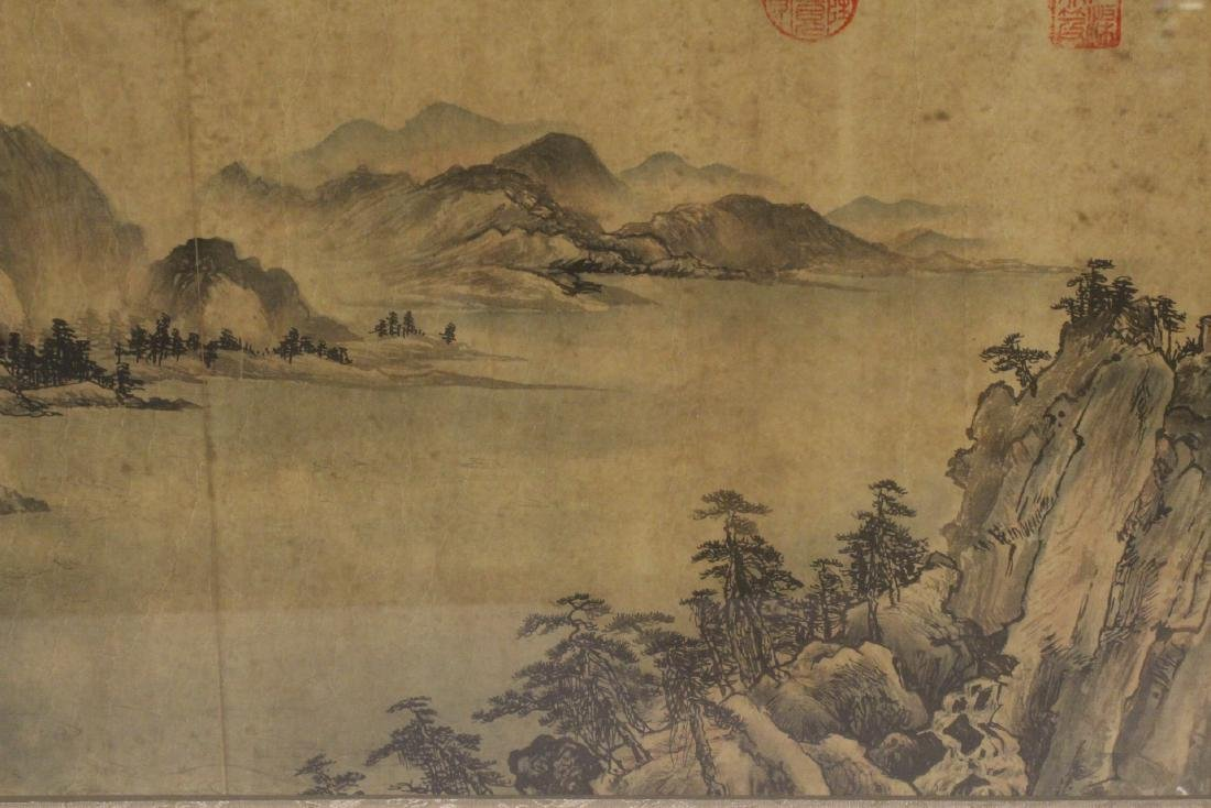 A framed Chinese watercolor - 9