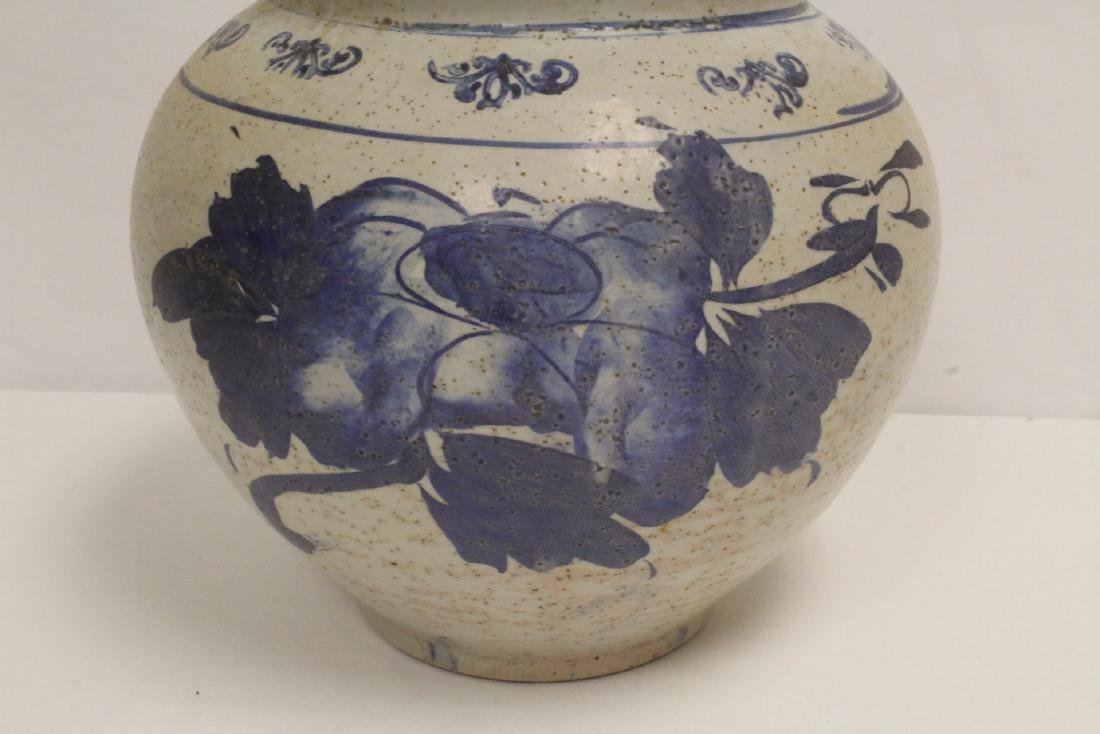 2 antique Korean blue and white jars - 4