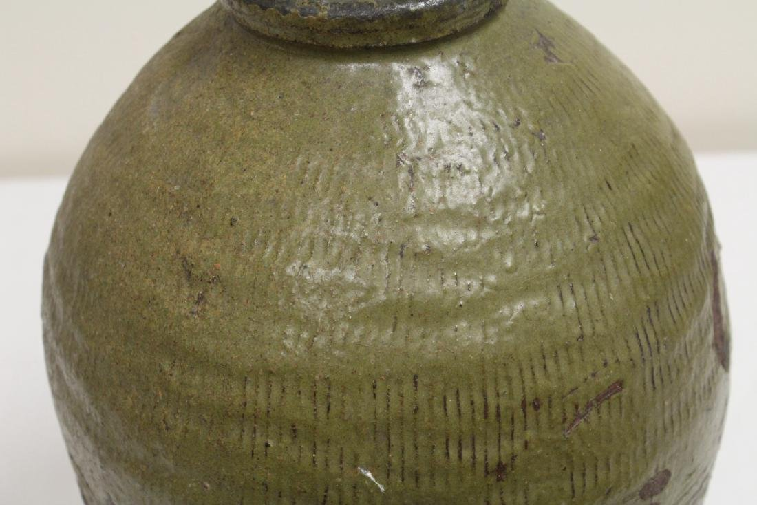Antique Chinese glazed pottery storage jar - 7