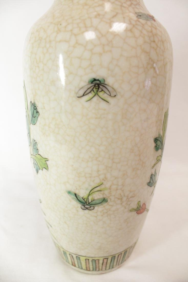 Pair Chinese 19th/20th c. famille rose vases - 10