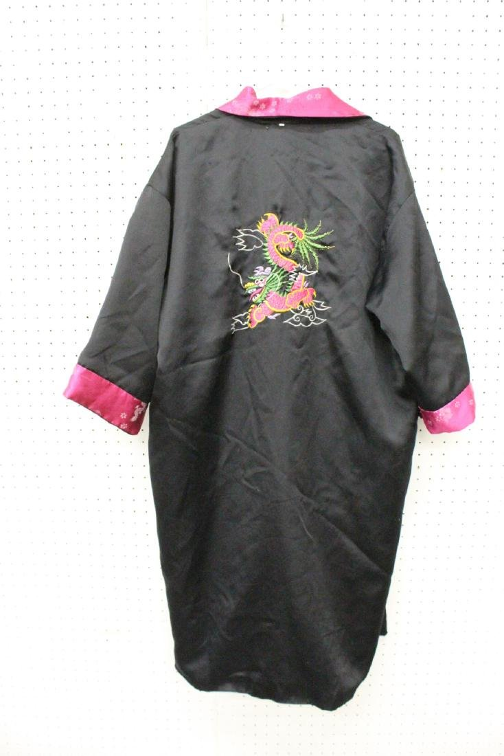 2 Chinese embroidery silk robes - 9