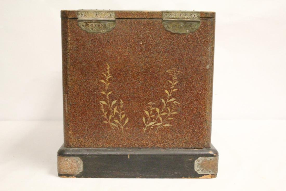 Japanese 19th c. lacquer lady's dressing box - 10