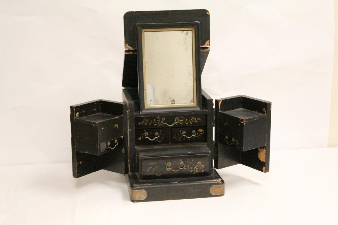 Japanese 19th c. lacquer lady's dressing box