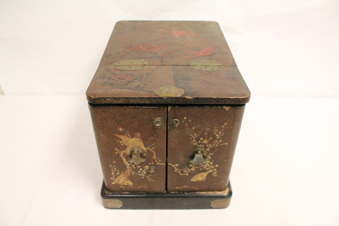 Japanese 19th c. lacquer lady's dressing box - 2