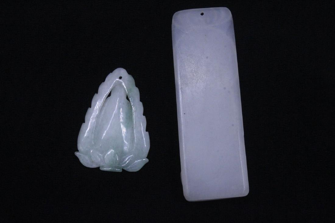 8 Chinese jadeite, jade and jade like carving - 3