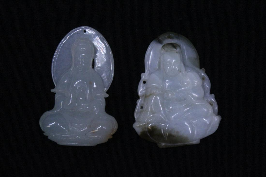 8 Chinese jadeite, jade and jade like carving - 4