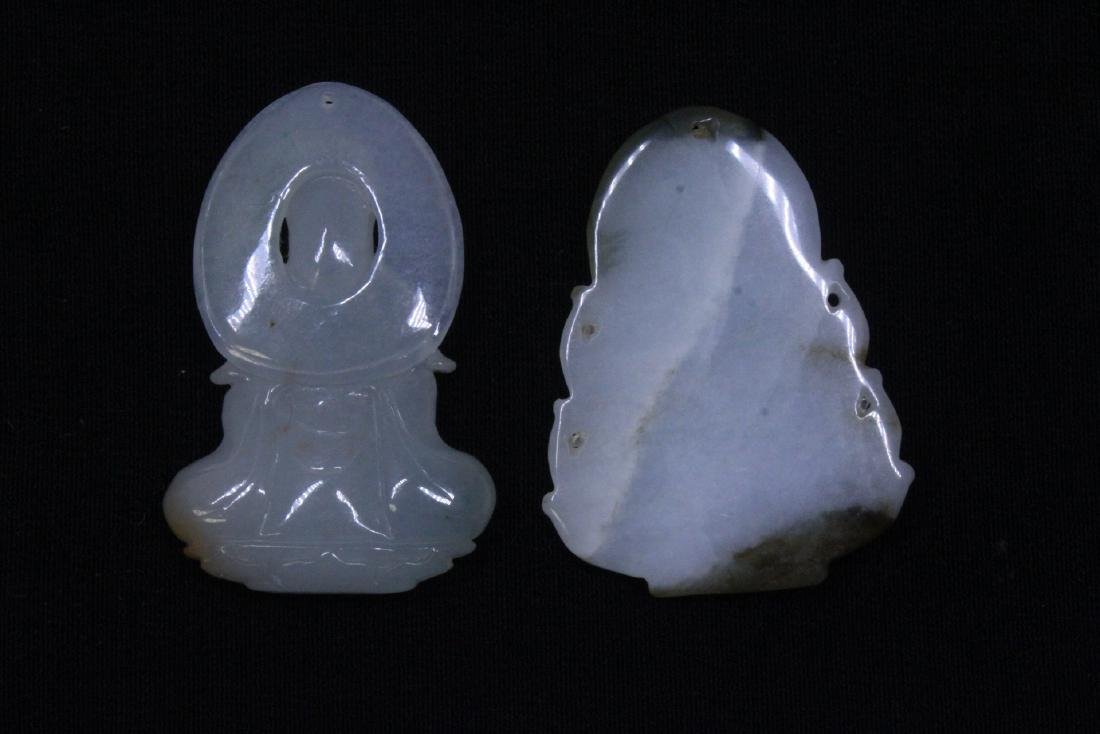 8 Chinese jadeite, jade and jade like carving - 5