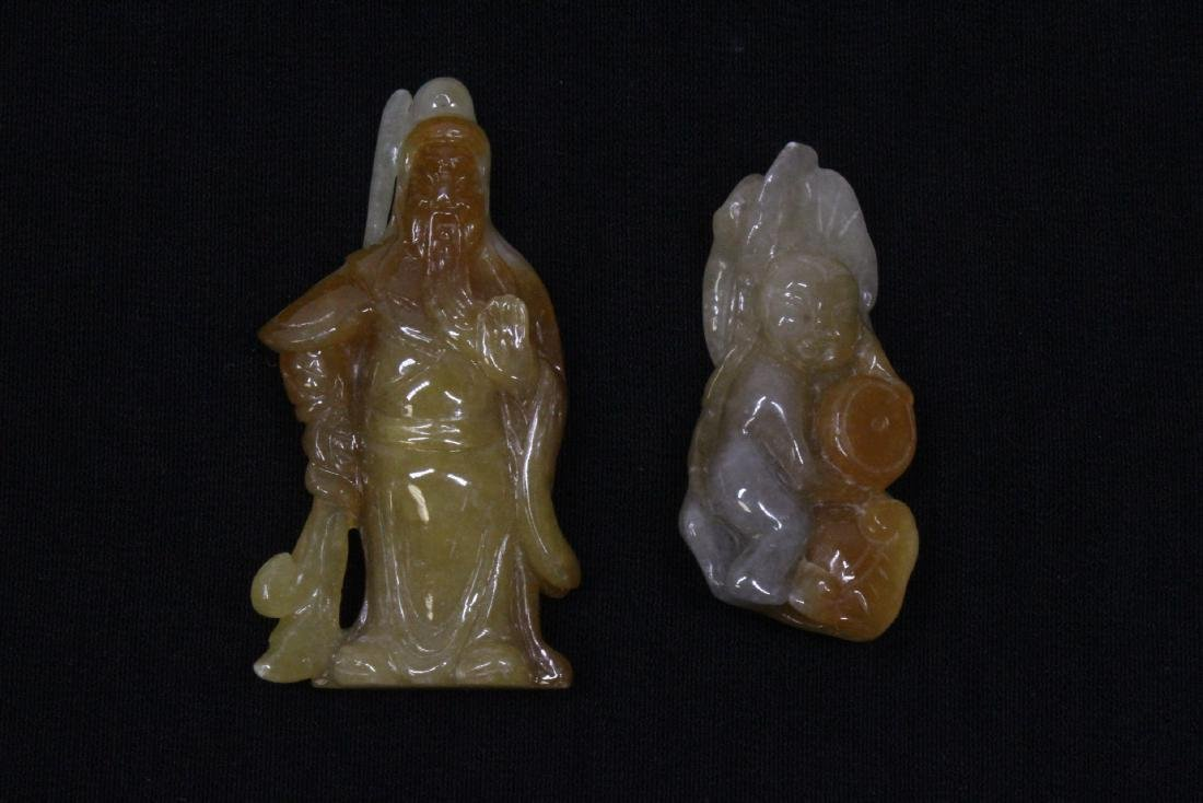 8 Chinese jadeite, jade and jade like carving - 6