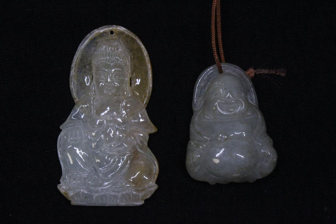 8 Chinese jadeite, jade and jade like carving - 8