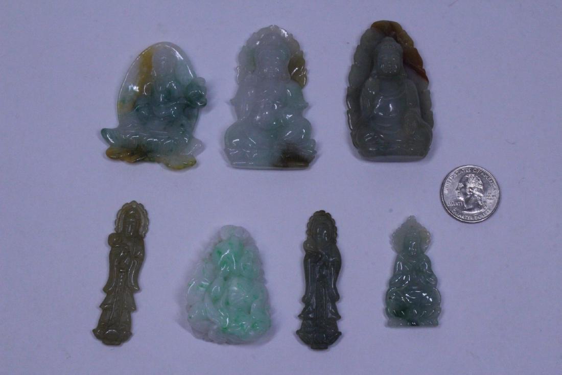 7 jadeite carvings
