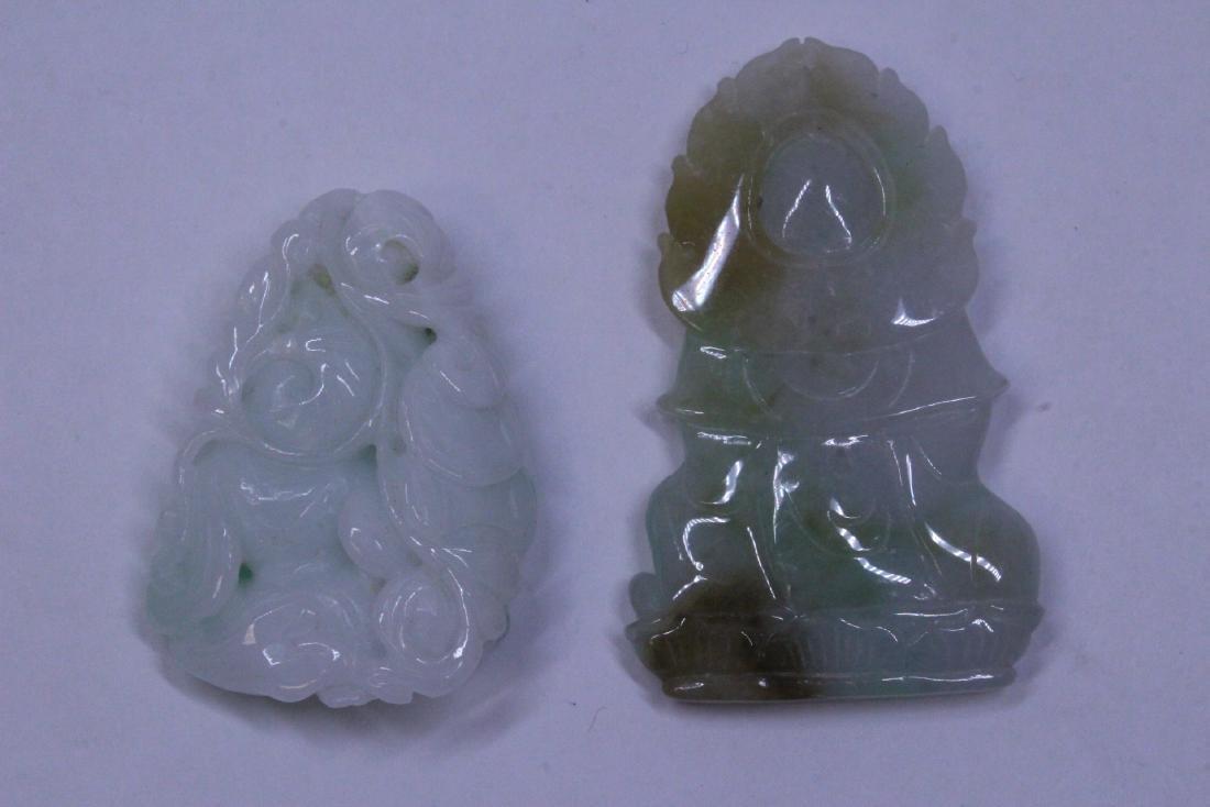 7 jadeite carvings - 7