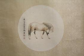 Chinese watercolor on rice paper panel