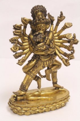 18th century Sino-Tibetan gilt bronze sculpture