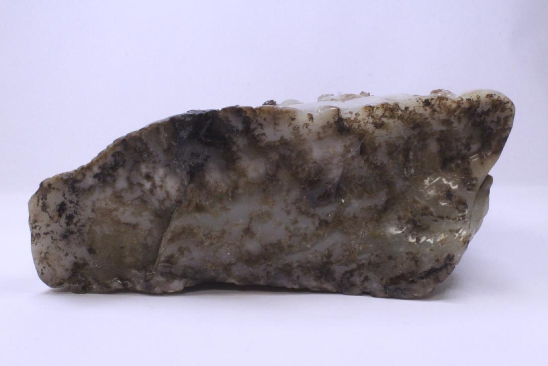 Chinese large jade carved boulder - 10