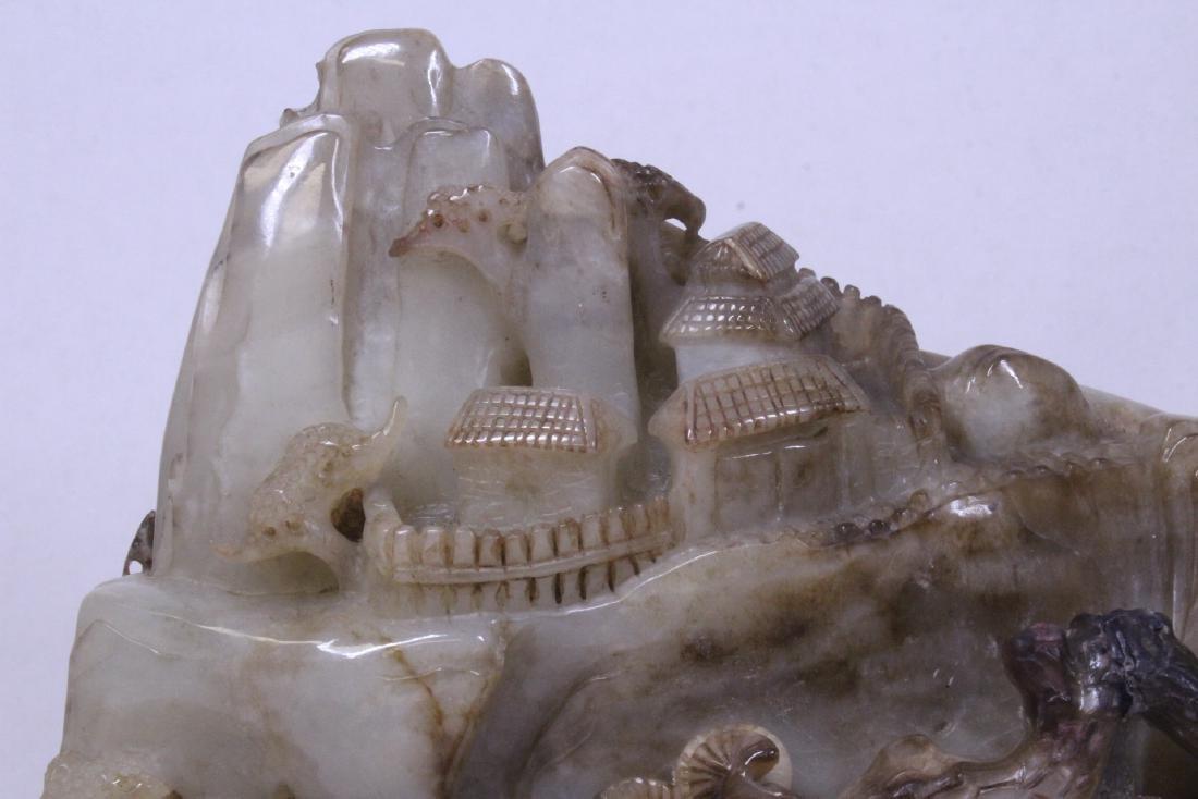 Chinese large jade carved boulder - 6