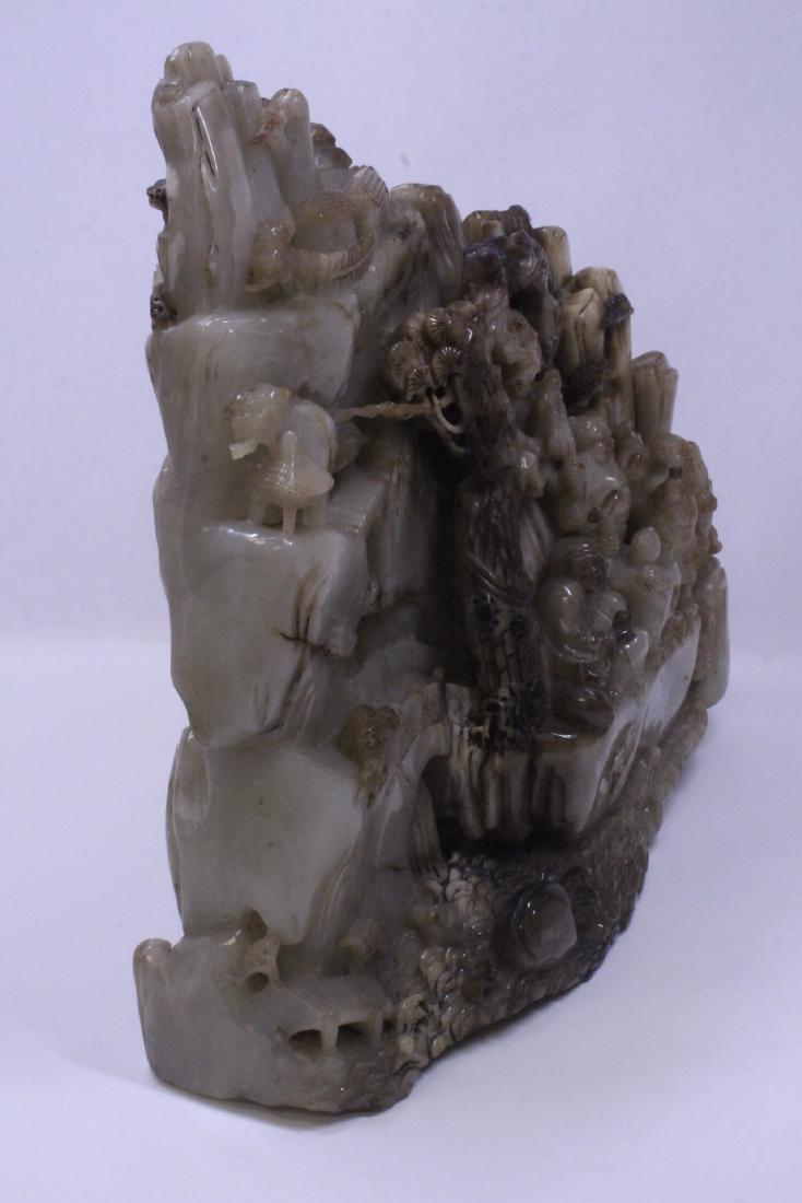 Chinese large jade carved boulder - 8