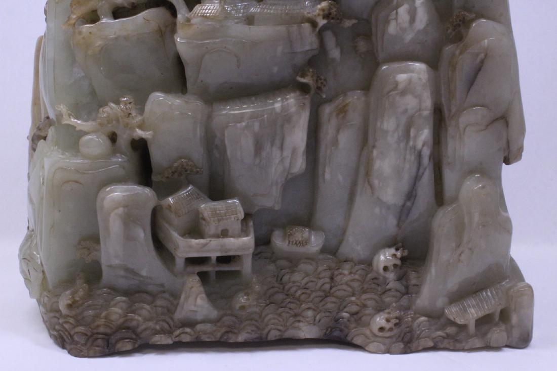 Chinese large jade carved boulder - 9