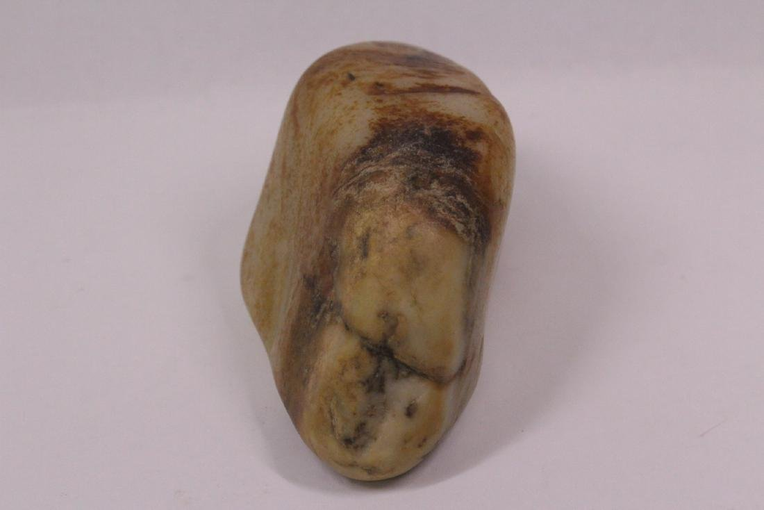 A rare hetian jade natural boulder - 5