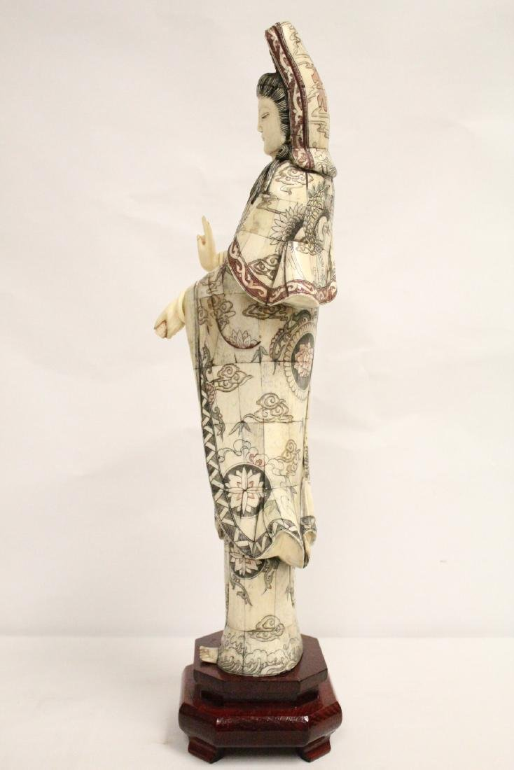 A large Chinese bone carved Guanyin - 2