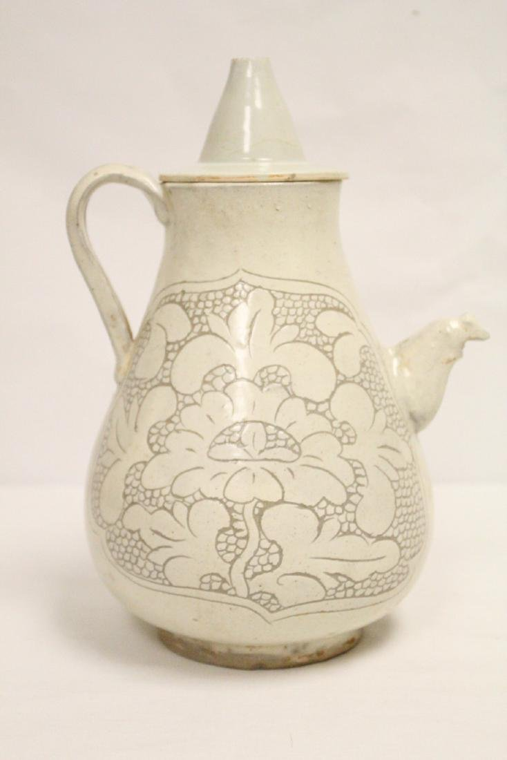 Chinese Song style white porcelain wine server - 3