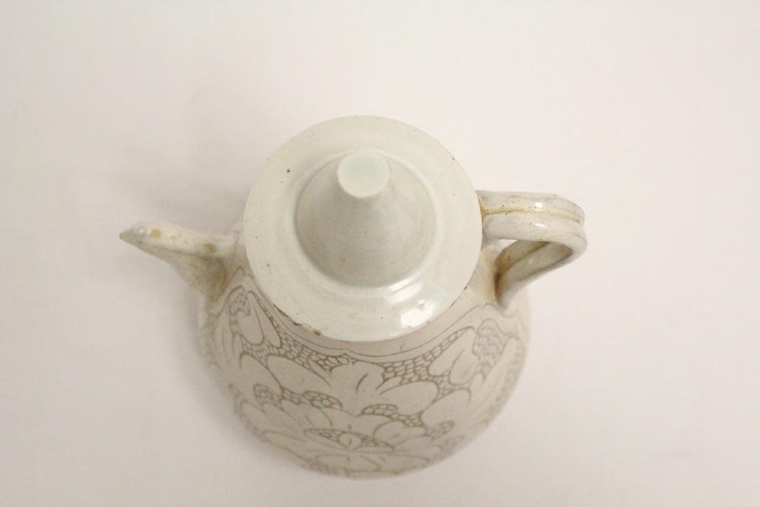 Chinese Song style white porcelain wine server - 5