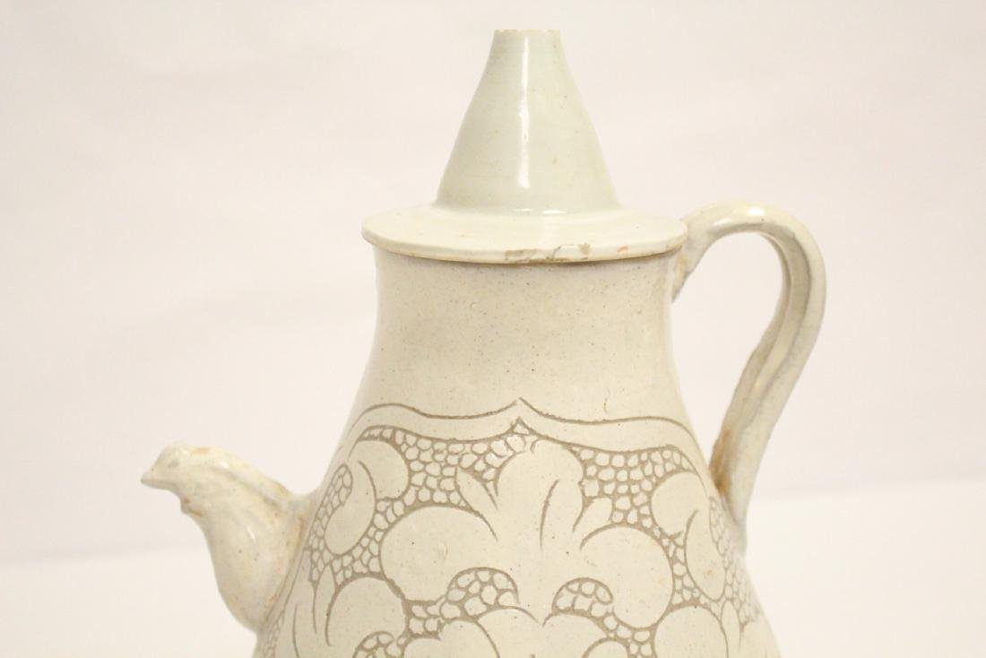 Chinese Song style white porcelain wine server - 7