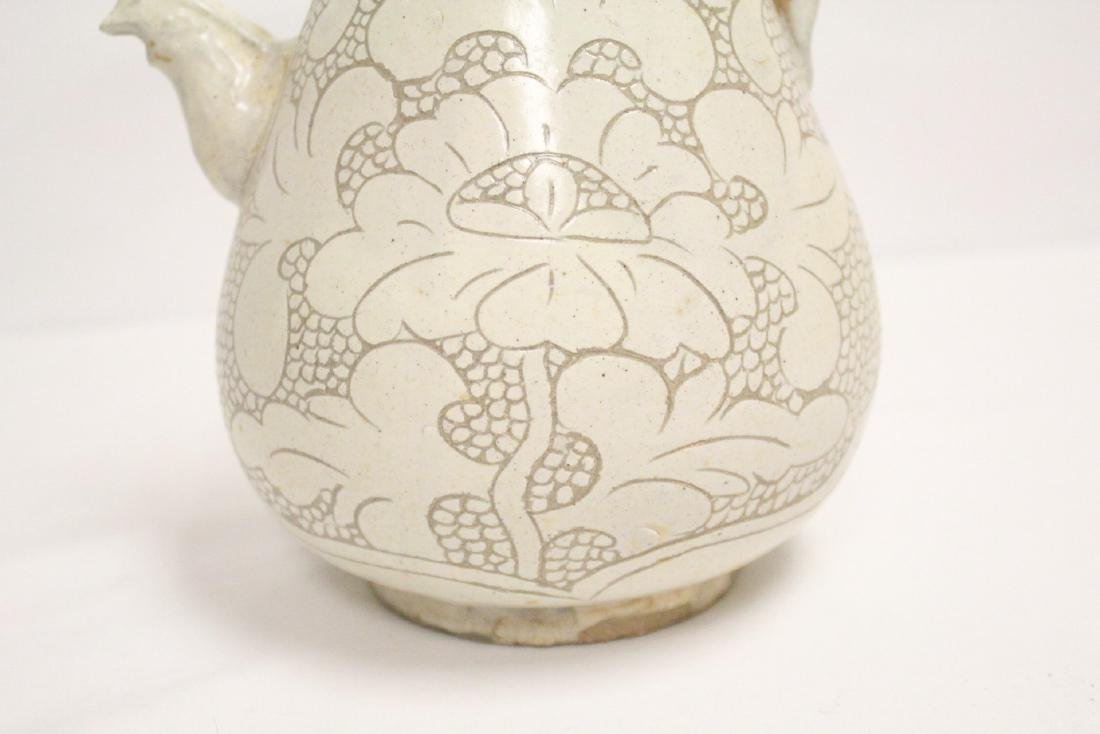 Chinese Song style white porcelain wine server - 8