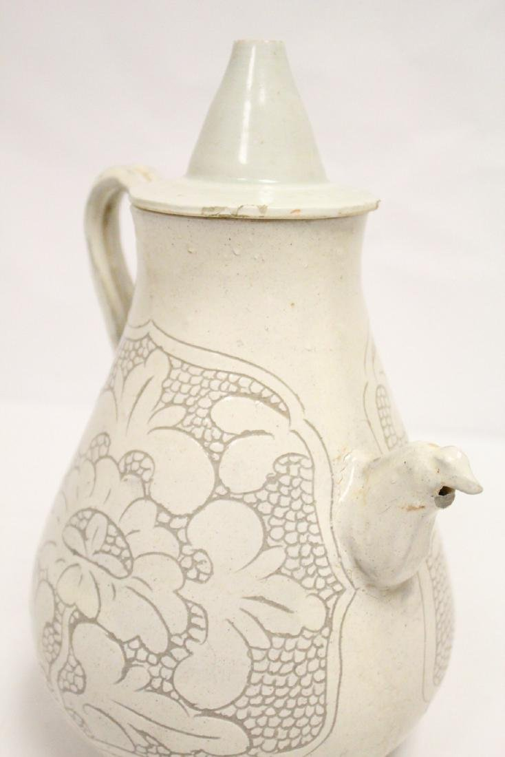 Chinese Song style white porcelain wine server - 9