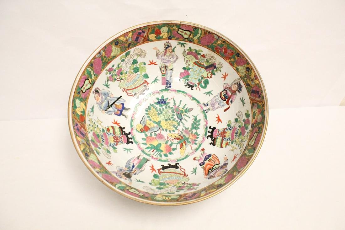 A large Chinese famille rose porcelain bowl - 2