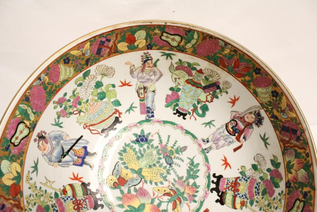 A large Chinese famille rose porcelain bowl - 3