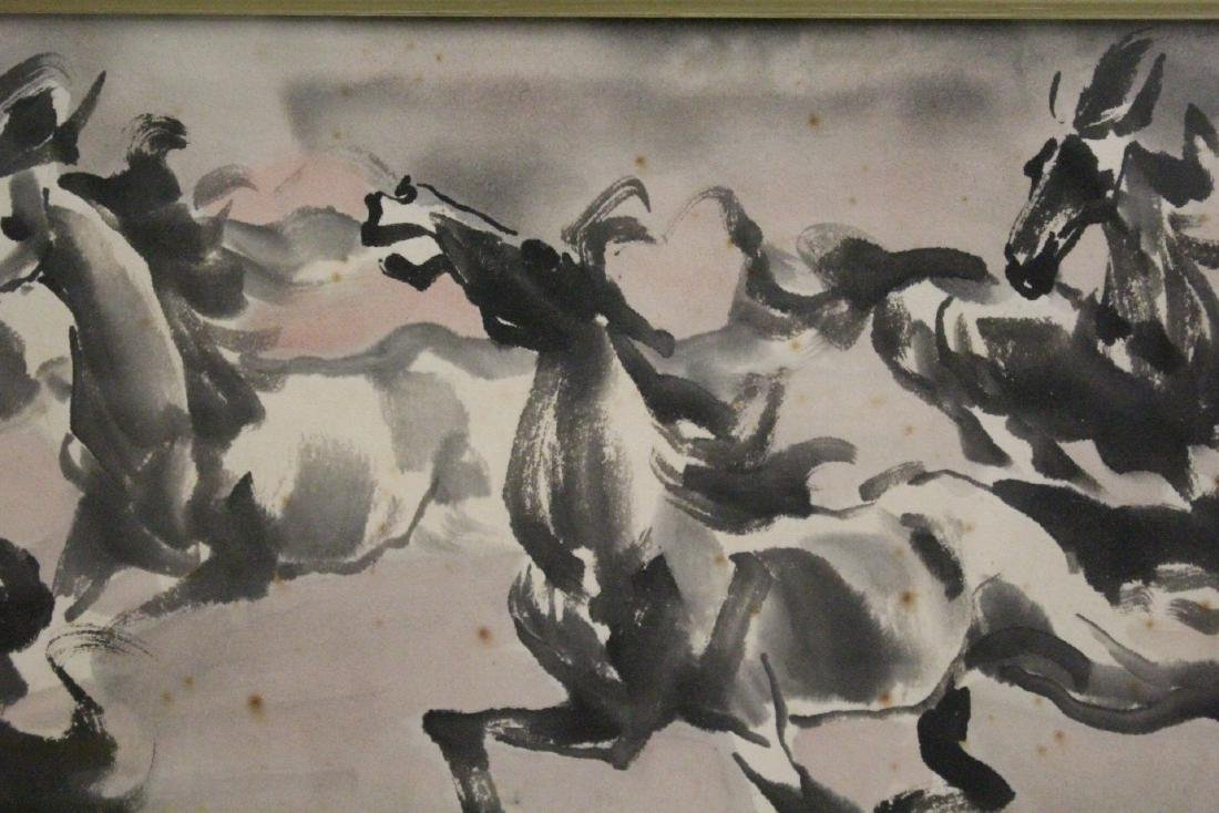 Chinese framed watercolor - 4