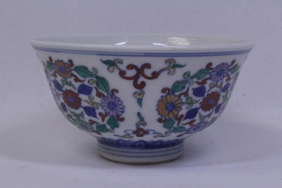 Chinese wucai porcelain tea bowl - 3