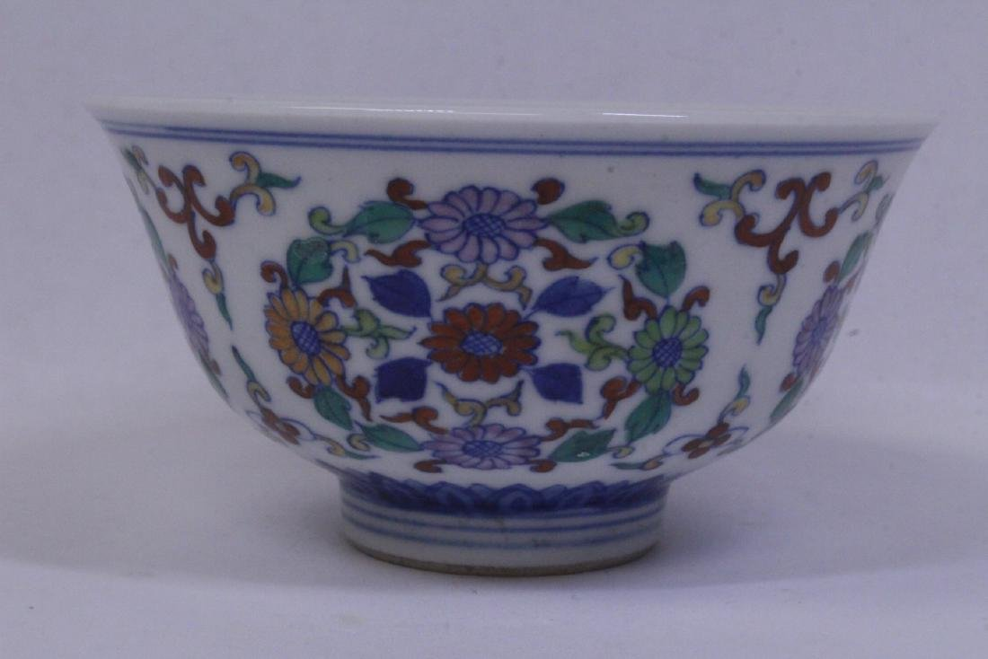 Chinese wucai porcelain tea bowl - 4